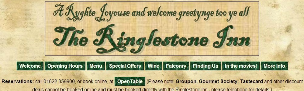 The Ringlestone Inn - a country pub near Harrietsham in Kent